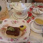 China Sencha Tea with Baked Jasmine Tea-Infused Loaf Cake