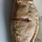 The sizeable traditional Cornish pasty