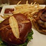 The Michael Burger at Saffron Salmon - Newport Oregon