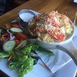 lobster mac n Cheese and side salad