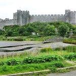 Pembroke Castle from across the moat