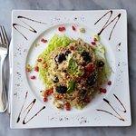 Quinoa salad with garden vegetables