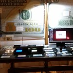Crane currency security display