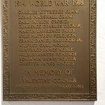 Zenas Crane listed on WW I honor roll