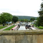 Boats ready for the aqueduct trip