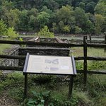 Several displays of the early structures used at Harpers Ferry to harness the hydro energy.