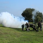 Civil War artillery firing demonstration (Sunday).