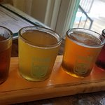 This is what a four-beer sampler looks like