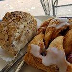 almond cream roll & cherry turnover