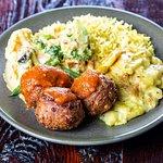 Medium Combo Plate - Koftas, Veg Curry & Creamy Potato Bake + Rice