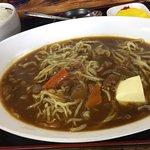 カレーラーメン、バタートッピング! もちもちした麺が、深みのあるカレースープに。他にはない、最高に旨いカレーラーメンかと。