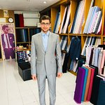 Cashmere wool suit customer from Germany