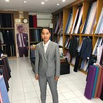 Cashmere wool suit checks fabric  semi casual