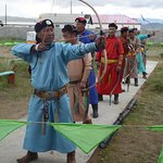 Naadam archers in Moron