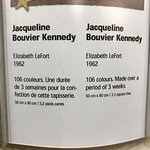 Explanation of Jackie Kennedy hooked tapestry.