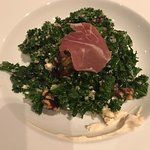 Kale salad with prosciutto