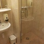 Basin and shower