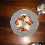 Panicotta, with fresh fruit, for dessert!