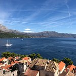 View from the Old City in Korcula