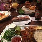 Lökringar,wraps ,Chicken quesadillas...gott