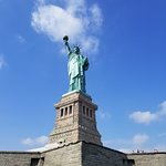 Despite huge crowds, Lady Liberty is still majestic.