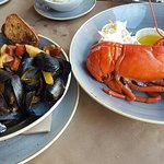 lobster and clams