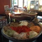 Spice Bowl in restaurant. No wonder it is so flavorful!