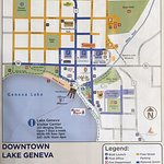 Map of downtown (yellow is free street parking, blue is metered)