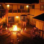 Enjoy live music, drinks, and friendly company in our courtyard.