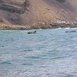 Los pescadore artesanales capturando concha abanico