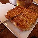 Huge Grilled Ham and Cheese