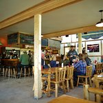 Warm wood, large table, hot coffee and delicious food ...