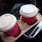 Take aways because the coffee was sooooo good!