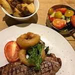 Barnsley chop with thick chips and salad