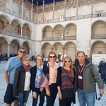 Krakow Walking Tour with my customers from Brazil at Wawel Castle.