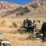 Fun in the dust at Sarchu