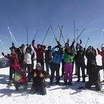 Raquetas de nieve en Madrid en grupo