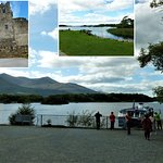 Ross castle and views of the lake