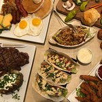 Great food!  Buffet dining or full menu options.  Martinis, champagne mimosas, ice cold beer, wi