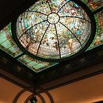 Art glass dome in the library
