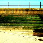 Sea wall and steps at Blundellsands