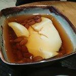 Tofu Pudding with Honey Beans