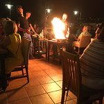Drama as flaming steaks are served