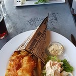 Fish and Chips and Salmon toast