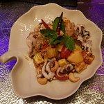 pomelo and seafood salad
