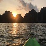 Sunset while kayaking