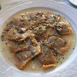 ravioli stuffed with pumpkin etc. - the BEST!