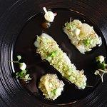 Hamachi, radish, apple, ponzu