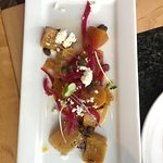 Beet salad with interesting toppings