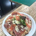 Tagliatelles gambas et pizza gourmande San Marco